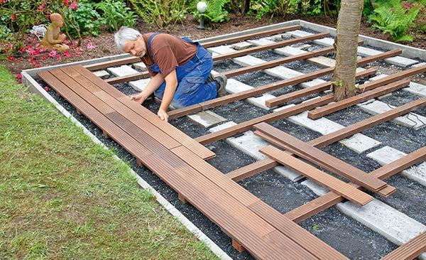 Instalação de Decks de Madeira