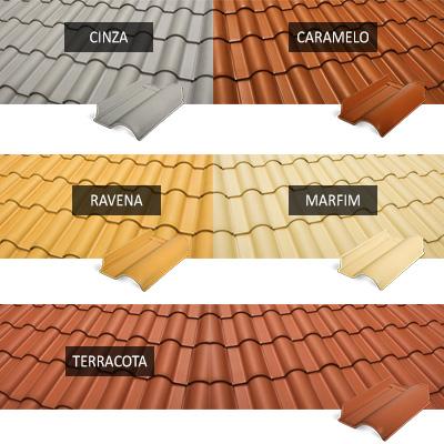 Tipos de telhas esmaltadas