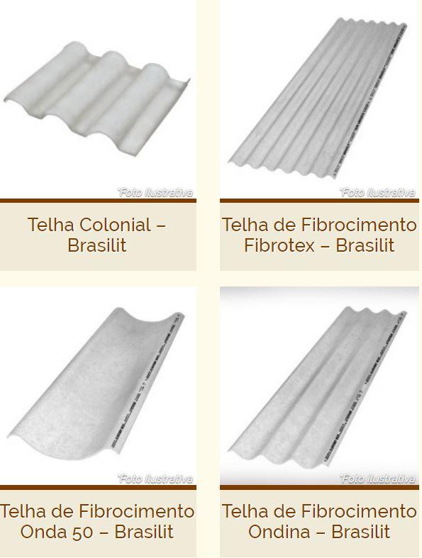 Tipos de Telha Brasilit - Ficbrocimento
