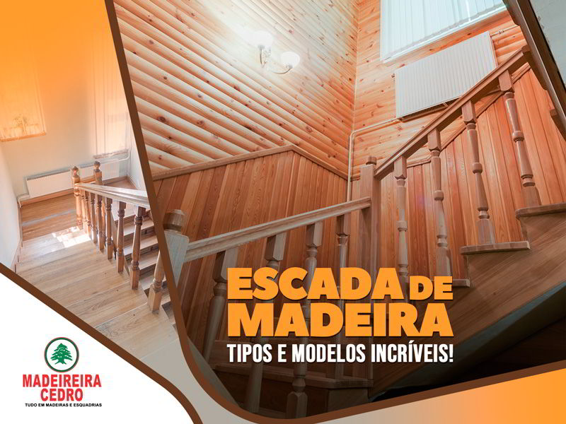 Escada de Madeira - Tipos e Modelos Incríveis!