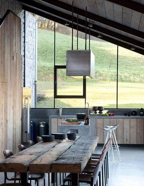 Cozinha Com Decoração Rústica