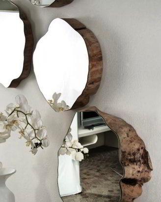 Espelho com madeira maciça