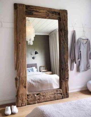 Moldura rústica para espelho