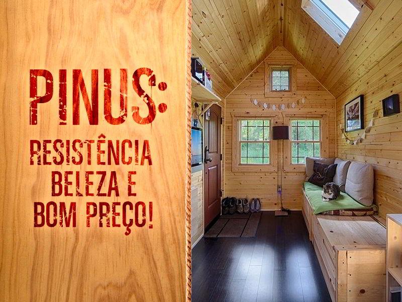 A madeira pinus é resistente, bonita e possui preço acessível.
