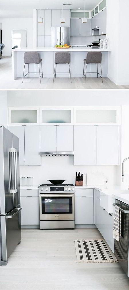 Na decoração escandinava, o branco e o cinza são muito utilizados.