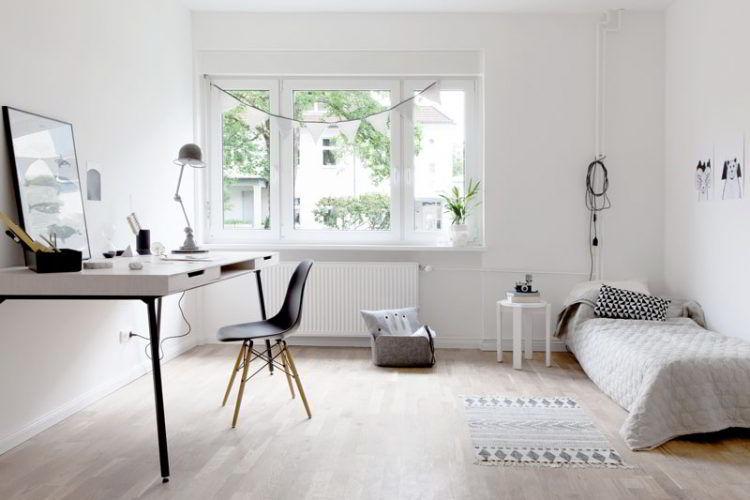 Espaço despojado faz parte do estilo escandinavo.