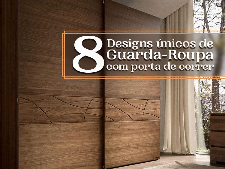 Confira 8 designs únicos de guarda-roupa com porta de correr.