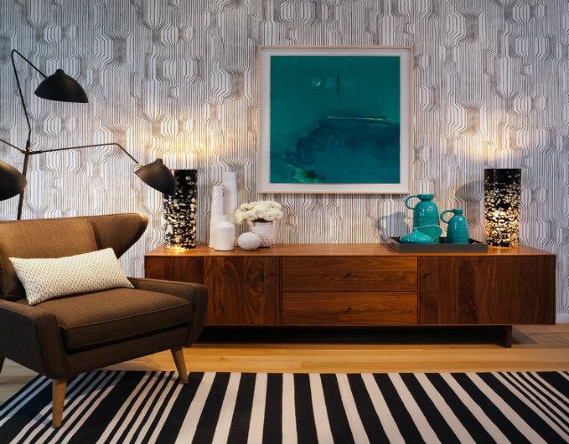 Aparador de madeira para sala em design clássico e moderno ao mesmo tempo.